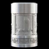 《中国航天》纯锡茶叶罐 周年庆典纪念礼品 高档会议纪念礼品