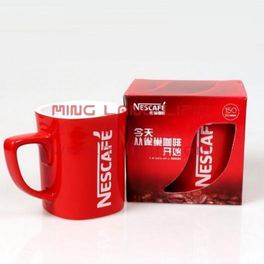 红色雀马克杯巢 咖啡陶瓷杯 定制企业LOGO包装盒 展会礼品 促销活动礼品