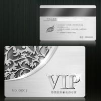 纯银VIP贵宾卡 会员银卡金卡设计定制 开业纪念品 周年庆典礼品定制LOGO