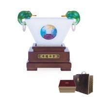 日进斗金玻璃摆件高档商务礼品周年庆典活动纪念礼品公司