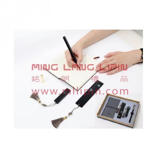 中国风耕读四件套文化礼品套装企事业外事礼品定制企业LOGO