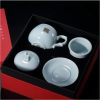 西泠印社龙泉青瓷十二生肖印章守护杯茶具水礼品套装中国风礼品高档商务礼品