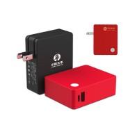 乐默5000毫安移动电源二合一多功能旅行充电器5000毫安移动电源USB口充气器创意商务礼