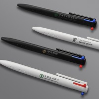 创意礼品笔三角笔杆三色中性签字笔定制企业LOGO按动签字笔企业商务礼品定制会议礼品福利礼品
