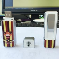 金属U盘造型环保电子点烟器