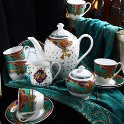 波斯之夏 高档商务艺术 陶瓷咖啡具 15头