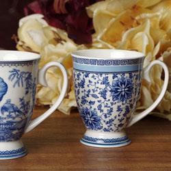 中国青花瓷 高档 新中式咖啡杯套装