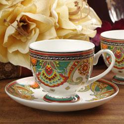 佩斯利 高档商务陶瓷咖啡杯