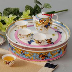欢乐颂/ 高档艺术瓷 茶具组 15头