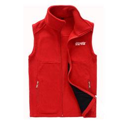 可口可乐马甲定做红色摇粒绒冬季保暖马夹背心