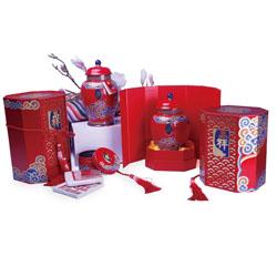 高档陶瓷罐 茶叶礼盒套装 中国特色礼品