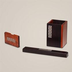 风雅三件套,红木商务套装,红木创意实用办公礼品定制,协会用品