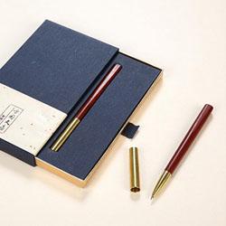 紫光檀、黄铜超然签字笔 中国文化礼品 中国特色礼品