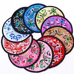 中国风特色小礼品 刺绣杯垫 创意民族风布艺杯垫会议出国礼品