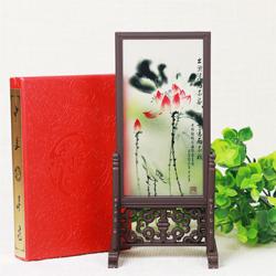 福禄寿三星 小竖台屏 书桌摆件 小屏风 中国风特色礼品工艺品
