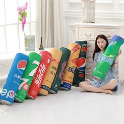 汽水抱枕定做 仿真印花靠垫 广告宣传礼品