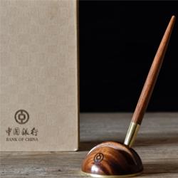 中国银行定制 小叶檀无形·之笔两件套 企业商务礼品 文化礼品 送老外送员工送客户礼物