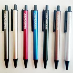 新款铝管圆珠笔定制 按动 广告笔镭射刻字定制企业logo