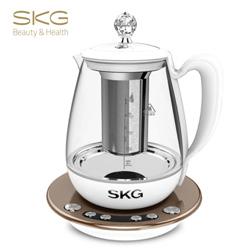 SKG 养生壶玻璃加厚保温电水壶多功能煮茶壶燕窝隔水炖8074 1.8L 陶瓷白