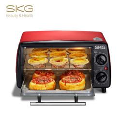 SKG 电烤箱12L家用多功能迷你烘培面包蛋糕小烤箱 员工福利礼品