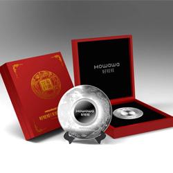 企业公司周年庆礼品  纯银纪念盘摆件工艺品 高档商务礼品定制送客户礼品