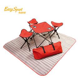 易威斯堡欢天席地折叠桌椅6件套創意戶外休閑渡假禮品定制送客戶送員工送領導禮品