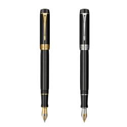 http://mllipin.com/法国派克世纪纯黑金夹18K金双色笔尖钢笔高档商务礼品送客户礼品可定制人名