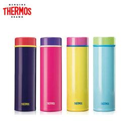 膳魔师THERMOS保温杯时尚多彩不锈钢真空杯TJNC-300印字粉红色紫色蓝色天蓝色水杯