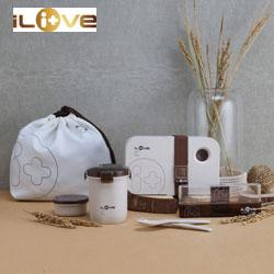 iliveLF-C077 谷物纤维便当套装创意环保时尚礼品送客户送员工积分礼品公司