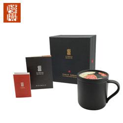 陆宝刺绣随心杯 随手泡茶杯 送长辈领导礼物 节日送礼茶具活水养生瓷杯礼品定制公司