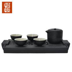 陆宝 旋纹旅行壶茶组 能量茶器 一壶两杯高档商务礼品礼品定制公司