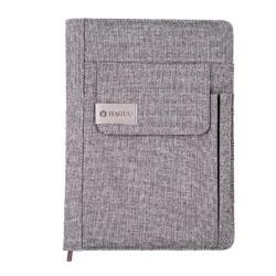 A5亚麻防水皮手机带笔记本创意商务礼品企业宣传展会赠送礼品公司