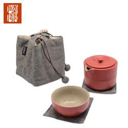 台湾陆宝 旋纹旅行组旅行茶组 快客杯 一壶一杯创意商务礼品活动伴手礼品定制公司