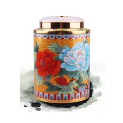 富贵添香茶叶罐 景泰蓝国礼高档外事礼送老外送领导收藏纪念礼品公司