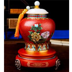 福禄连连景泰蓝茶叶罐高档收藏纪念礼品送老外送领导礼品公司