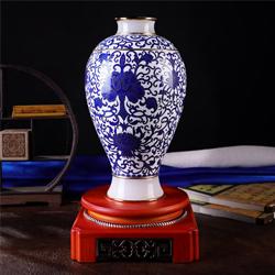 青花梅瓶景泰蓝民族特色青花国韵白玉花瓶送老外送领导