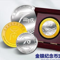 金银纪念币定制周年纪念礼品会议礼品校庆司庆礼品定制LOGO
