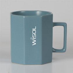 八角陶瓷杯定制员工生日礼品展会促销礼品促销礼品伴手礼定制LOGO