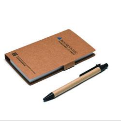 牛皮纸环保便签本 带笔牛皮纸组合便签本展会礼品商务办公礼品定制