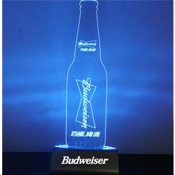 桌面发光亚克力台卡USB充电器 定制logo发光标识企业宣传礼品