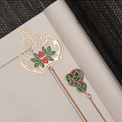 福禄寿喜书签国风精美文创小礼品金属镂空书签 外事礼品送国外礼品公司