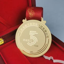 纯金挂牌奖牌奖章定制 员工表彰礼品周年纪念礼品珍藏礼品会议纪念礼品定制LOGO